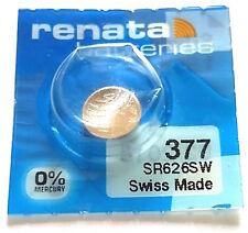 1 PILE Renata 377 sr626sw,pile bouton,batterie