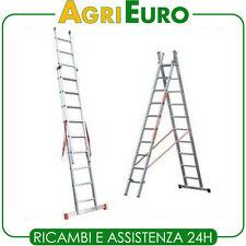 Scala alluminio telescopica Facal Genia 2 rampe 11 gradini mt 5,94 - allungabile