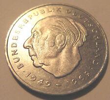 2 DM Deutsche Mark Deutschland Theodor Heuss 1976 J Umlaufgeld Kursmünze