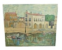 1963 Frederick A Jessup Vtg Mid Century Landscape Oil Painting Listed Australian