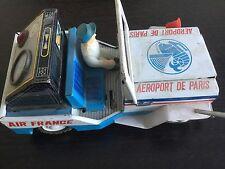 Voiture Jeep Willys Air France Aéroport de Paris Circa 1970 en tôle