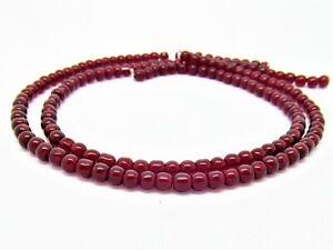 200+  Dark Red Garnet Glass 4mm Round Beads One Strand P00110XF