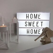 Cinematic Light Box USB with 90 Letters and LED Light Decor Light Up Your Life