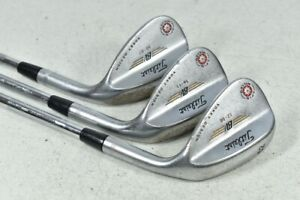 Titleist Vokey Spin Milled 2009 Tour Chrome 52*,56*,60* Wedge Set Steel # 117920