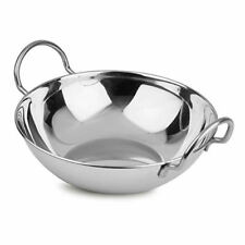 Balti Dish Stainless Steel 22cm Indian Food Curry Serving Handled Dishes