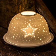 Light-glow STAR Tealight / Candela tea light VOTIVE A CUPOLA IN CERAMICA CON BOX