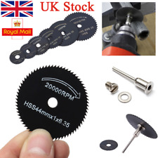 UK 6pcs HSS Circular Saw Blade 22-50mm Cutting Discs Wheel Metal Cutting Mandrel