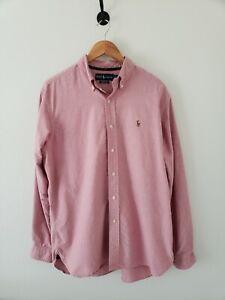 Ralph Lauren Polo Men's Large Pink Oxford Cotton Button Down Shirt Long Sleeve