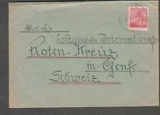 Czechoslovakia Sept 1945 post WWII cover Liberec to Red Cross Geneva