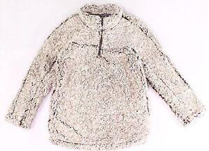 Grays Peak Sweater Boys' Brown Size 14-16 Quarter-Zip Pullover Sherpa $98 #618