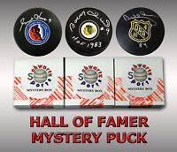Hockey Hall of Famers Signed MYSTERY Logo Hockey Puck Series 4 (Limited to 50)