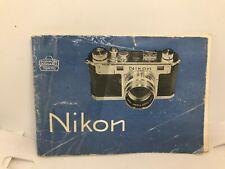 Nikon S Rangefinder Instruction Manual