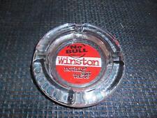Old Vtg RJR NO BULL WINSTON NOTHIN' BUT TASTE Glass ASHTRAY Advertising Smoking