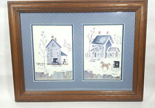 Double Framed Prints - Amish Home & Buggy by Berry Sills Hand Signed/Numered