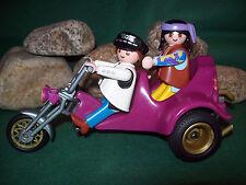 Playmobil 3832-A/1995 Motorrad/Trike, Komplett-Set, ohne OVP!