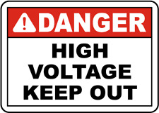 "Danger High Voltage Keep Out Sign 8""x12"" .040″ Aluminum English/Spanish E3410"