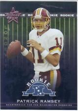 2002 LEAF ROOKIES & STARS LONGEVITY #ed 15/50 rookie PATRICK RAMSEY #225