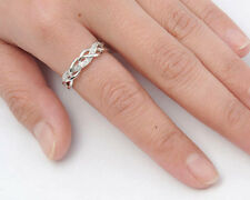 USA Seller Weaved Ring Sterling Silver 925 Best Deal Clear CZ Jewelry Size 10