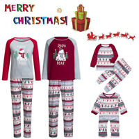 Family Matching Mommy Daddy Baby Kids Infant Sleepwear Christmas Pajamas Sets