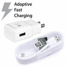 Fast Adaptive Charging USB Wall Charger+3Ft USB Cable for Samsung Note 4 S6/7/8