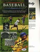 Vin Scully Psa/dna Signed By 8 Ken Burns Baseball Booklet Autograph