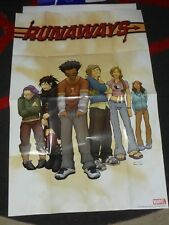 RUNAWAYS - Folded Promo Poster - MARVEL - Adrian Alphona - 2003 Comic TV SHOW
