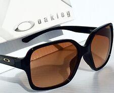 NEW* Oakley PROXY BLACK w VR50 Gradient Brown lens Women's Sunglass 9312-01