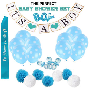 Baby Shower Decorations for Boy,30pcs 'It's a Boy' Banner, A Mommy To Be Sash...