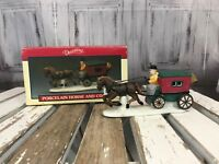 Lemax DickensVale Village CollectioHorse and Coach Wagon Buggy Decoration Xmas