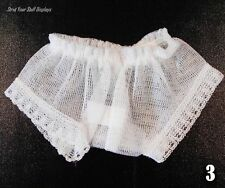 """1 pair SHEER DOLL PANTIES~ NEW. Size 3 WHITE 16""""tall doll CRISSY,FRANKLIN,ERIN B"""