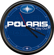 Polaris Way Out Snowmobile Dealer Racing Sales Repair Sign Wall Clock