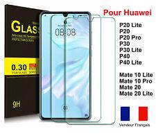 Vitre verre trempé Protection Huawei P30 P30 Lite P20 Lite Mate 20 Lite P40 LITE