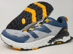 New Balance Men's Hierro v5 Trail Running Shoe, Aluminum/Yellow, 12.5 D(M) US
