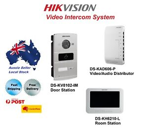 Hikvision Video Intercom System (DS-KV8102-IM / DS-KH6210-L / DS-KAD606-P)