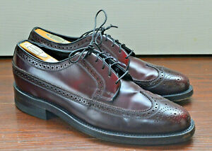 Vintage 1998 Made in USA Florsheim 30831 Varsity Long Wing Shoes Size US 7.5E