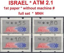 Israel ATM Klussendorf * no machine # * 1st. paper complete first set of 4 MNH