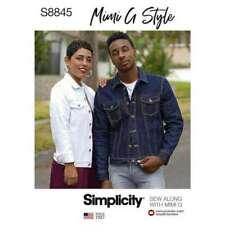 Simplicity Pattern 8845 Jean Jackets Mens Misses Sizes XS SM MD LRG XLRG Uncut