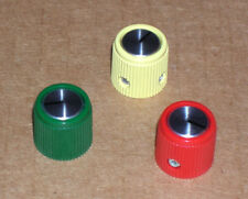 """3- NEW-NOS Gain Brain, Kepex, guitar pedal knobs ~ 1/8"""" shaft ~ the REAL DEAL!"""
