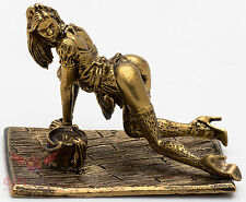 Solid Brass Figurine of De L'amour Maid Woman Lady IronWork