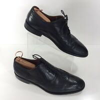 BOSTONIAN Italy Mens Size 11.5 M Oxford Dress Shoes Wing Tip Black Leather