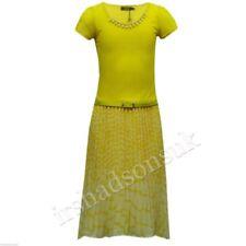 Robes soirées jaunes en polyester pour fille de 2 à 16 ans