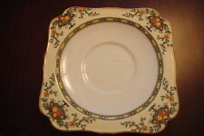 ANTIQUE CROWN DUCAL-England-1920's Staffordshire, 9 sq. desert/saucer plates[6]