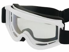 NEW WSGG CYCLE GOGGLES - DOWNHILL MTB BMX MOUNTAIN BIKE MX XC RACE - WHITE