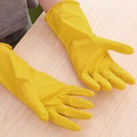 1/3/5 Paare industrielle gelbe Gummihandschuhe, die oben Handschuhe waschen