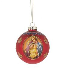 Holy Family Glass Ball Christmas Ornament