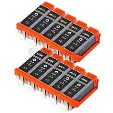 10 für CANON PATRONEN schwarz PGI-550 bk IP7250 MG5450 MG5650 MG6350 MX725 MX925