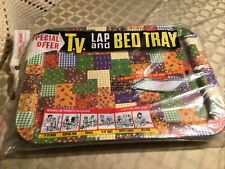Vintage Metal TV Tray Lap Bed Serving Table Folding In Orginal Package