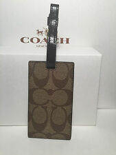 COACH Signature Luggage Tag Mahogany F77590 NWT. Comes with a Coach Gift box.