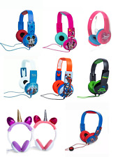 Headphones Kid's Marvel Disney Unicorn Frozen Princes Mickey Wired Safe Volume