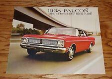 Original 1968 Ford Falcon Sales Brochure 68 Catalog Futura